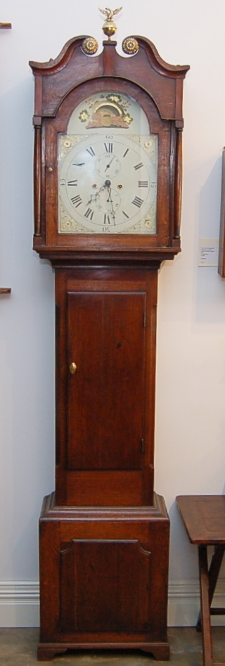 English long case clock