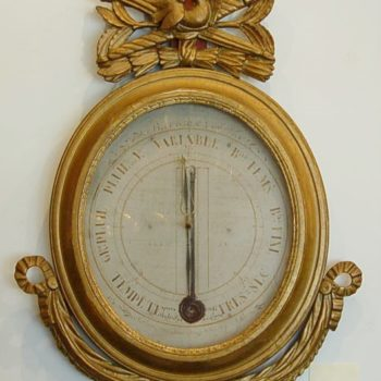 French gilded wall barometer_0292