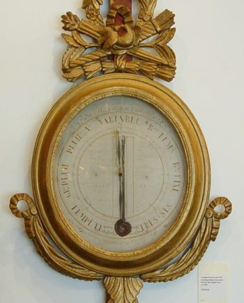 French gilded wall barometer