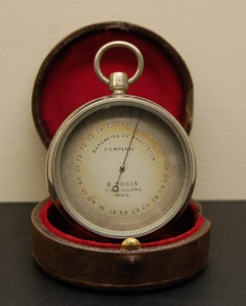 Large French Pocket Barometer