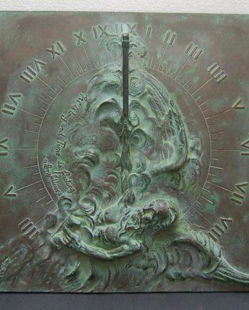 Louis Ragot bronze sun dial