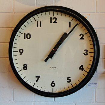 English industrial clock