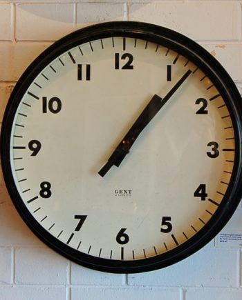 English industrial clock