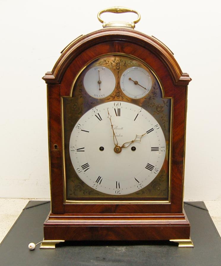 antique clock. ellicott english bracket clock antique