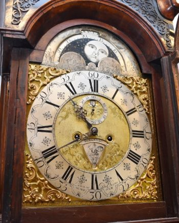 Antique Grandfather Longcase And Tall