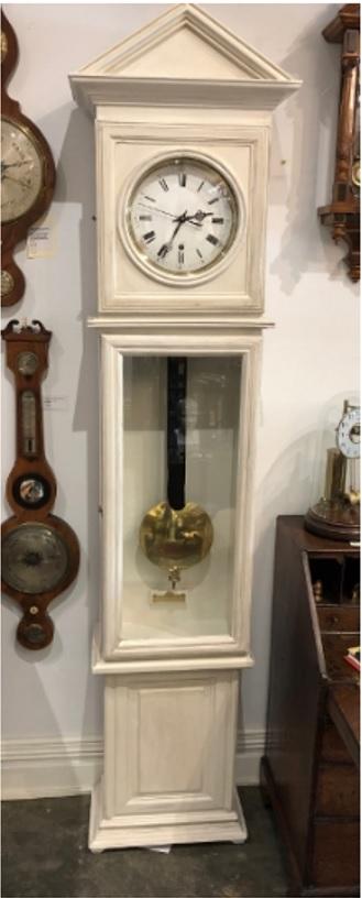 antique grandfather clock also called a longcase clock